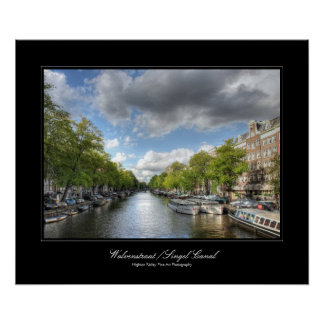 Wolvenstraat / Singel Canal  Amsterdam - gallery Poster