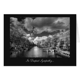 Wolvenstraat / Singel Canal - In Deepest Sympathy Card