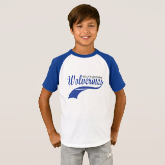 Wolverines Baseball Raglan Boys T-Shirt