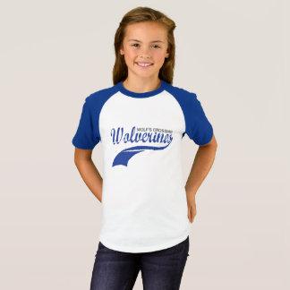 Wolverines Baseball Raglan Girls T-Shirt