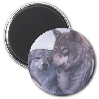 wolves 2 inch round magnet