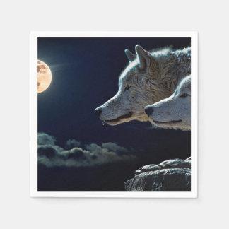Wolves Disposable Napkins