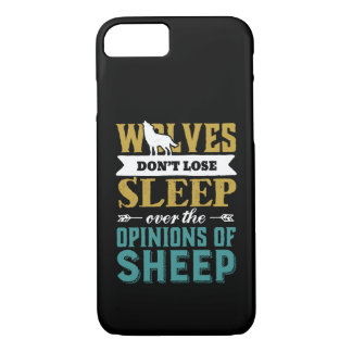 Wolves Don't Lose Sleep Over Opinion Of Sheep Case-Mate iPhone Case