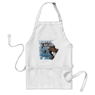 Wolves Don't Lose Sleep Standard Apron