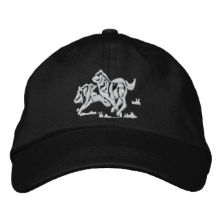 Wolves Embroidered Hat