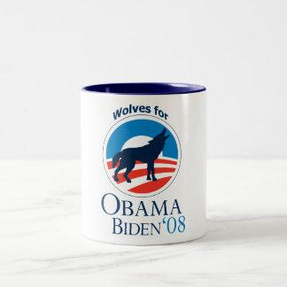 Wolves for Obama Mug