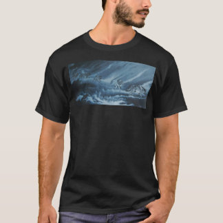 Wolves in shadow, pack of wolves, night T-Shirt