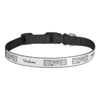 Wolves in Snow Pet Collar