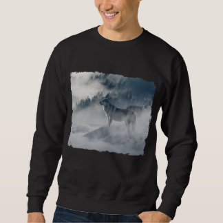 Wolves In Winter Fog Sweatshirt