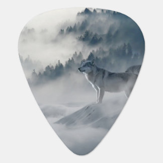 Wolves In Winter Guitar Pick