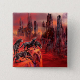 Wolves of Future Past 2 Inch Square Button