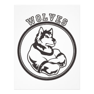 Wolves or Wolf Mascot Letterhead
