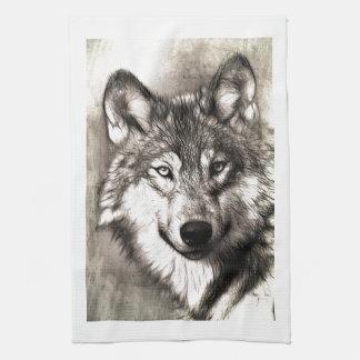 Wolves Wolf Animals Wild Nature Forest Kitchen Towel