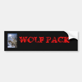 Wolves, WOLF PACK Bumper Sticker