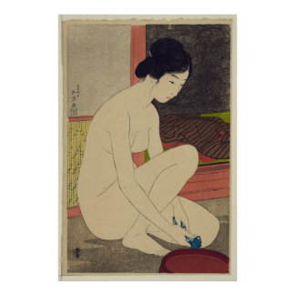 Woman after Bath - Japanese Vintage Art Reprint Print