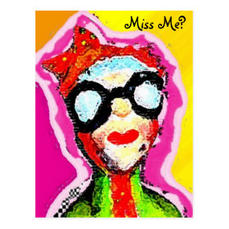 woman alive, Miss Me? Postcard