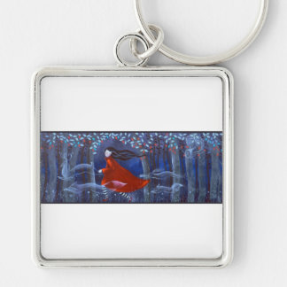 Woman and Forest Animal Spirits Keychains