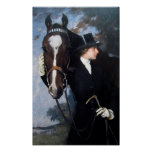Woman and Horse Poster