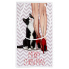 Woman and Tuxedo Cat Small Gift Bag