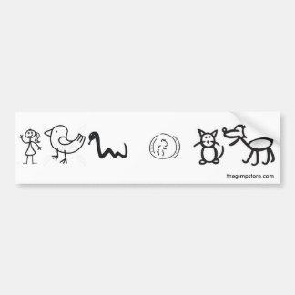 woman animals bumper sticker