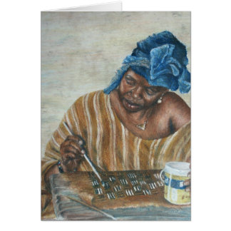 Woman applying Bologan paste Card