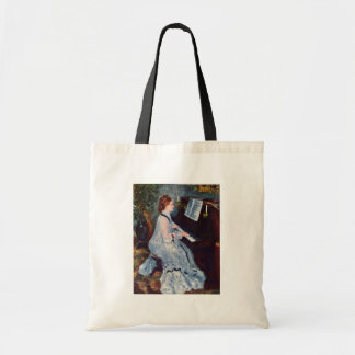 Woman At The Piano By Pierre-Auguste Renoir Budget Tote Bag