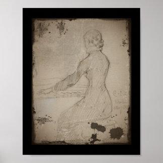 Woman at the Piano (Dam Vid Piano) Poster