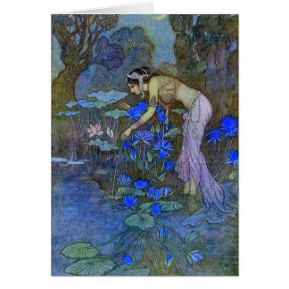 Woman at the Pond - Card