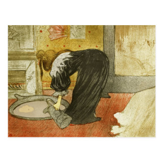 Woman at the Tub by Henri de Toulouse-Lautrec Postcard