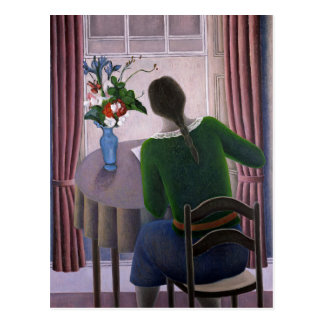 Woman at Window 1998 Postcard