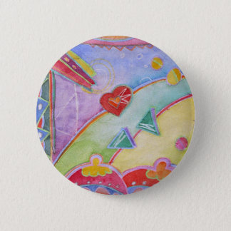 woman at window looking lor love 2 inch round button