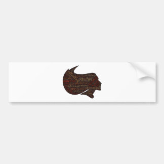 woman attri bumper sticker