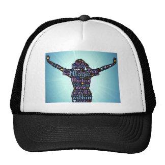 woman attri trucker hat