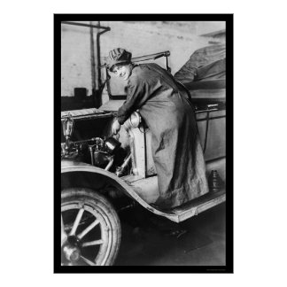 Woman Auto Mechanic 1925 Poster
