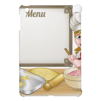 Woman Baker or Pastry Chef Menu Sign Cover For The iPad Mini