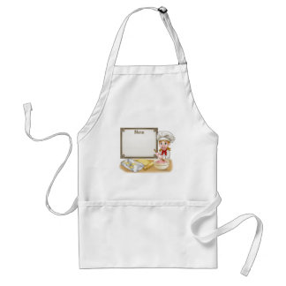 Woman Baker or Pastry Chef Menu Sign Standard Apron