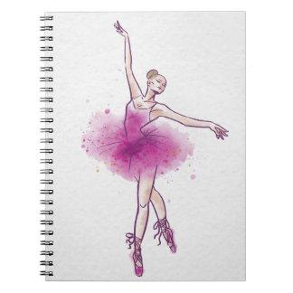 woman ballet dancer notebooks