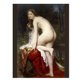 Woman Bathing (Baigneuse) by Bouguereau Postcard
