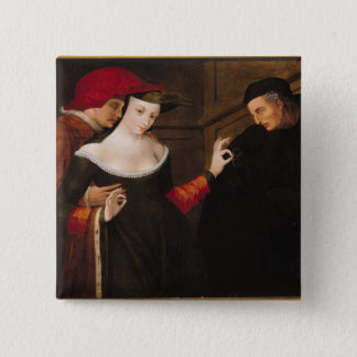 Woman Between Two Ages 2 Inch Square Button