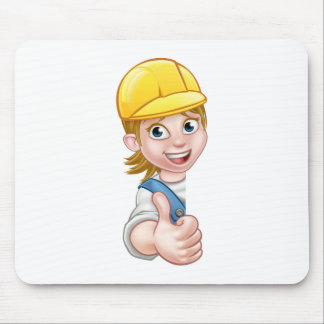 Woman Builder Carpenter Mechanic or Plumber Mouse Pad