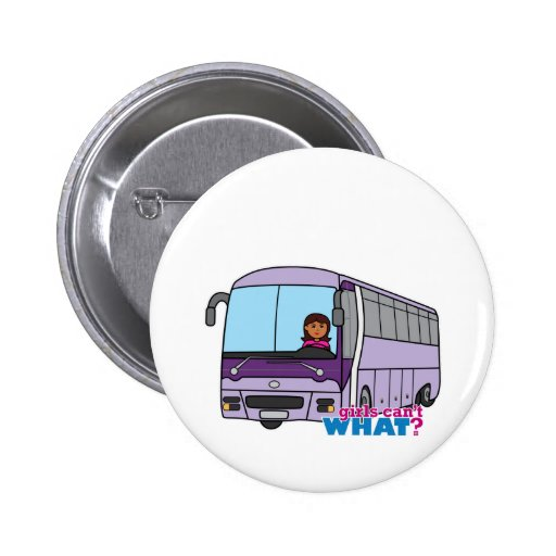 Woman Bus Driver Buttons