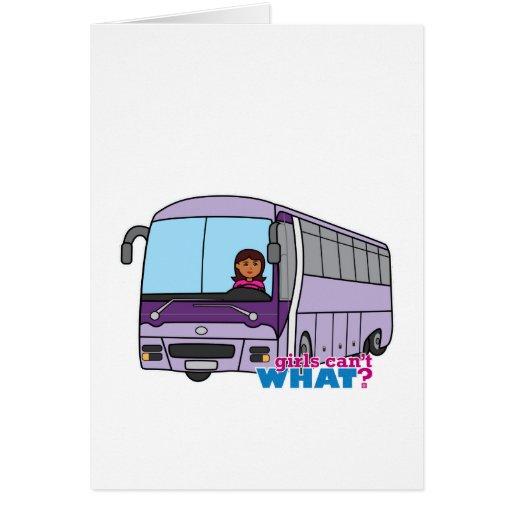 Woman Bus Driver Greeting Card