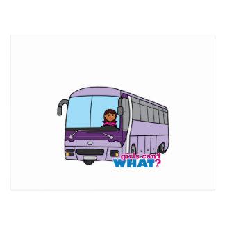 Woman Bus Driver Postcard