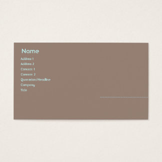 Woman - Business Business Card