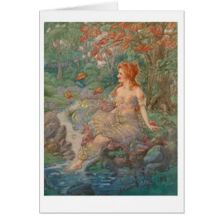 Woman by a Stream Card