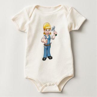 Woman Carpenter Holding Hammer Baby Bodysuit