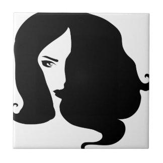 woman ceramic tiles