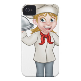 Woman Chef Cartoon Character Mascot Case-Mate iPhone 4 Case