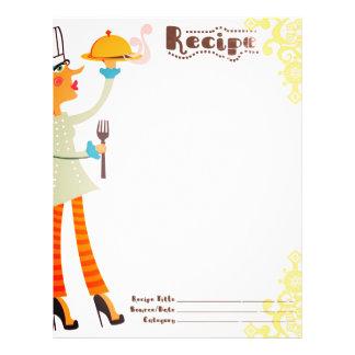 Woman chef high heels cookbook recipe letterhead