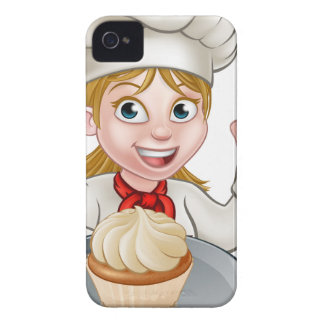 Woman Chef or Baker Cartoon iPhone 4 Cover